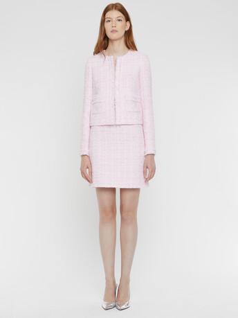Ribbon-tweed jacket - Opale