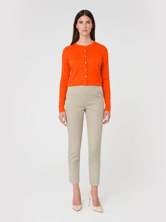 Merino wool cardigan - Cornaline