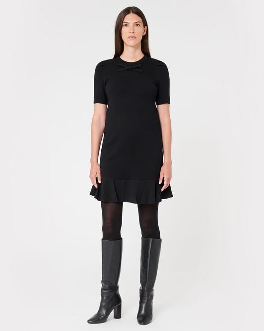 Robe en mérinos - Noir
