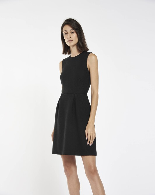 Herringbone dress - Noir