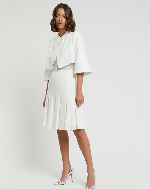 Veste habillée en crêpe envers satin