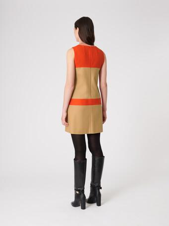 Robe en drap de laine - Camel / cornaline