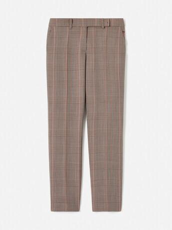 Pantalon en jacquard prince de galles - multicolore