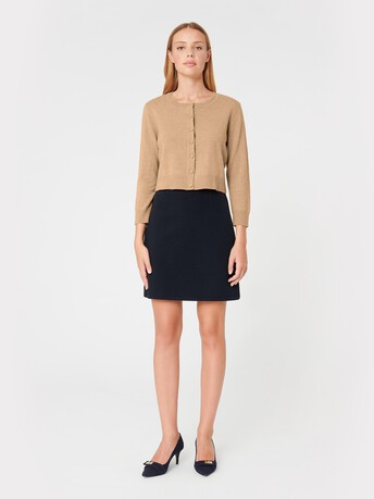 Wool and cashmere cardigan - Beige