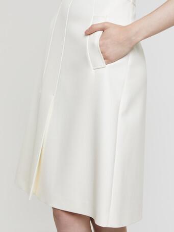 Stretch-tricotine skirt - Off white