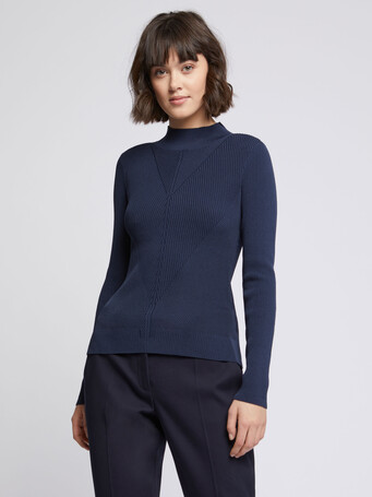 KNITTED SWEATER - Encre