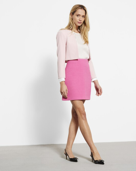 Stretch wool twill skirt - Peony