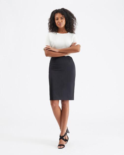 Satin-poplin skirt