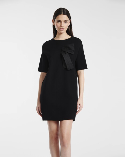 Dress in matte viscose - Noir