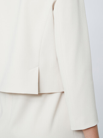 Satin-back crepe jacket - Coquille