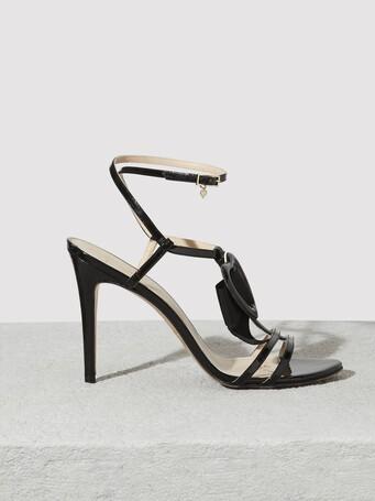 Patent-leather sandals - Noir