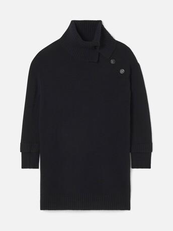 Robe en laine cachemire - Noir
