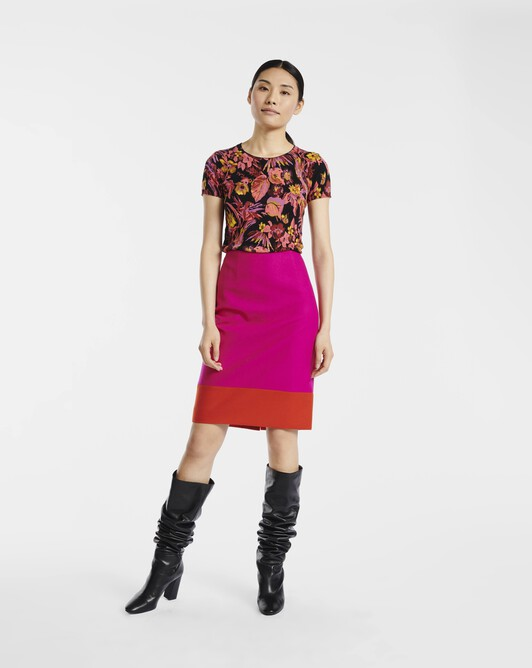 Wool skirt - Fushia / paprika