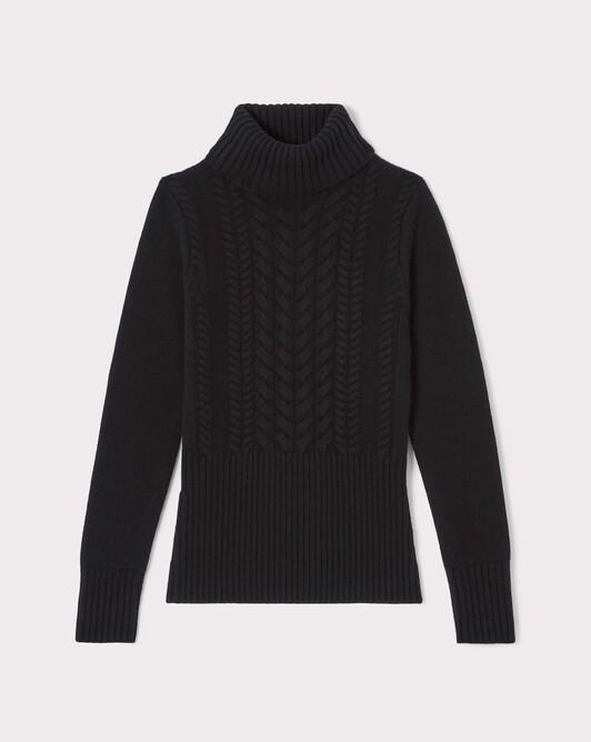 Pull en laine et cachemire - Noir
