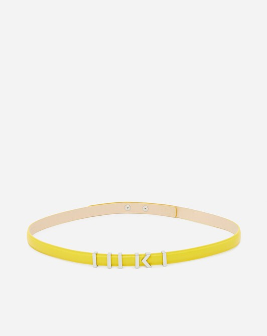 Leather belt - Citron