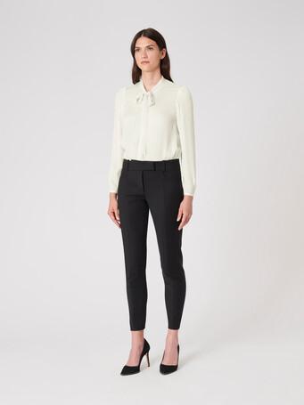 Stretch-charmeuse shirt - Off white