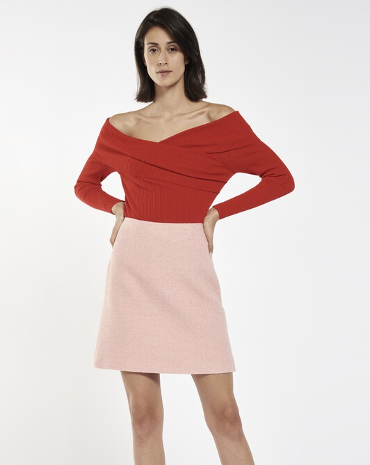 Sweater in merino wool - Groseille