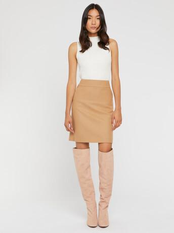 Wool skirt - Camel