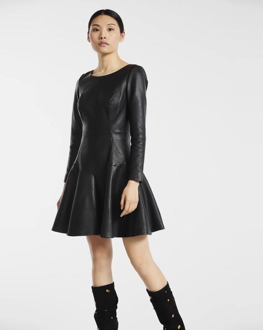 Robe en cuir - Noir