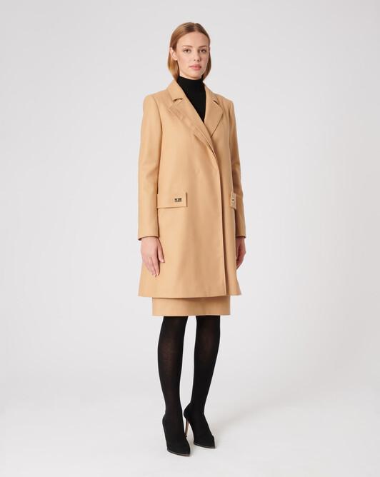 Manteau en drap de laine - Camel