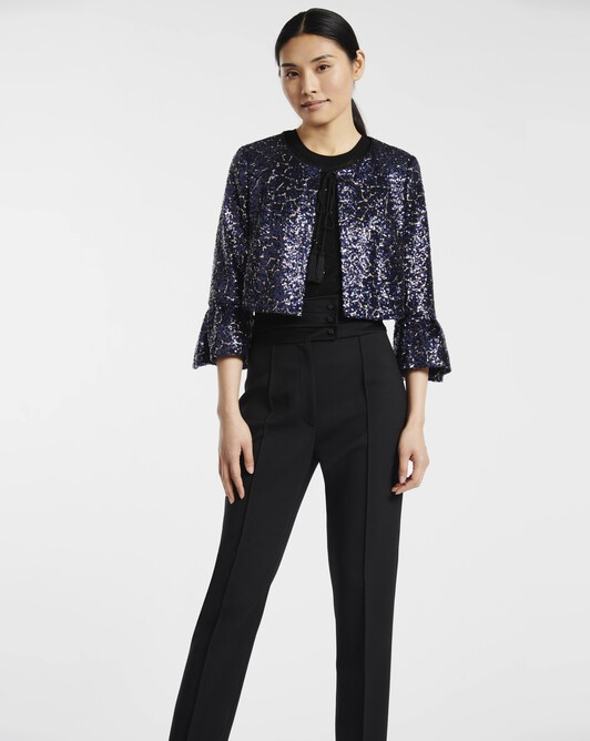Mini-sequinned jacket - Blue