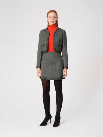 Veste en tweed - Noir
