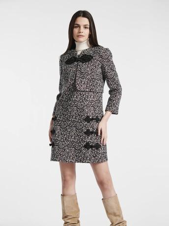 Veste en tweed noir et blanc - Noir / blanc