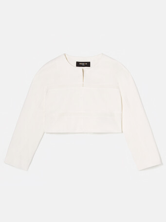 Veste en ottoman stretch - Blanc casse