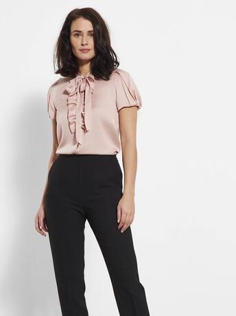 Stretch charmeuse shirt - Rose pale