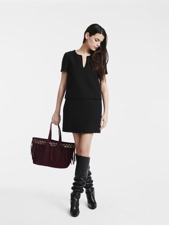 Herringbone dress - Noir