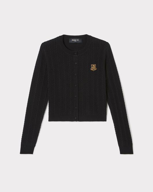 KNITTED CARDIGAN - Noir