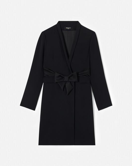 WOVEN DRESS - Noir