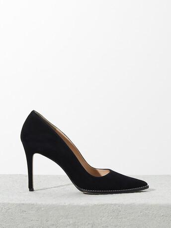 Suede pumps - Noir