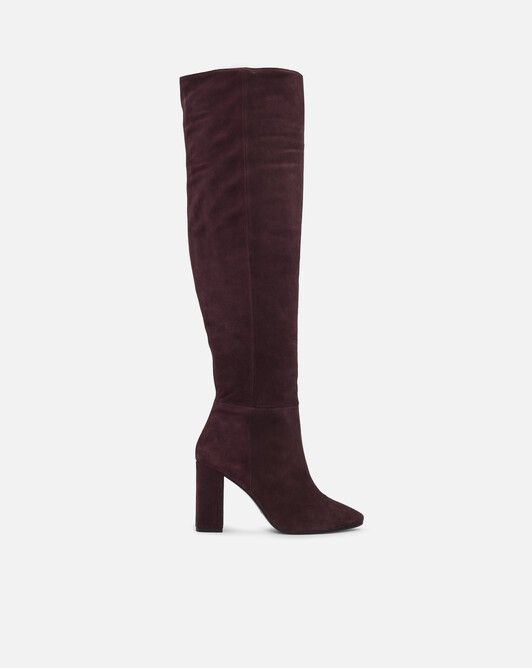 Suede boots - Bourgogne