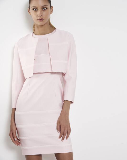 Veste en ottoman stretch - Magnolia