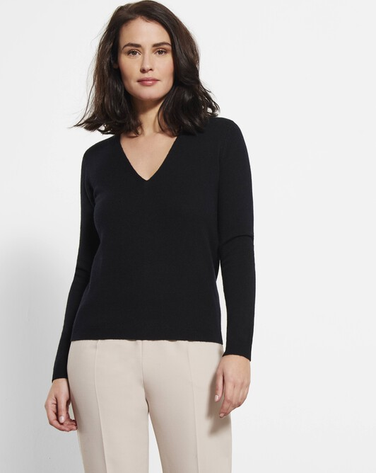 Cashmere and wool sweater - Noir