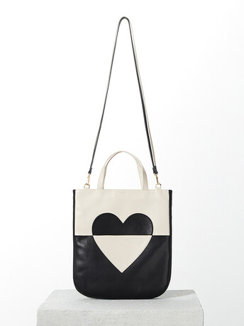 Lambskin leather bag - Noir / sable