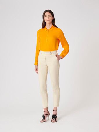 Stretch-charmeuse top - Mangue