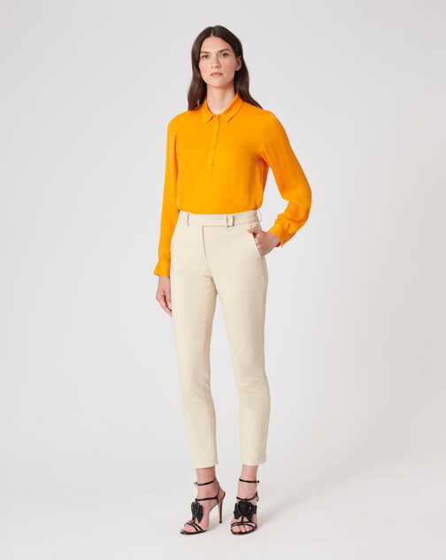 Stretch-charmeuse top