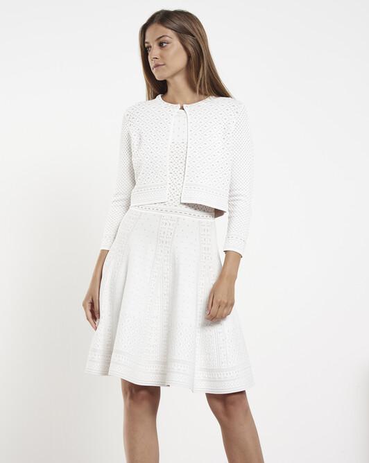 Jacquard cardigan - White
