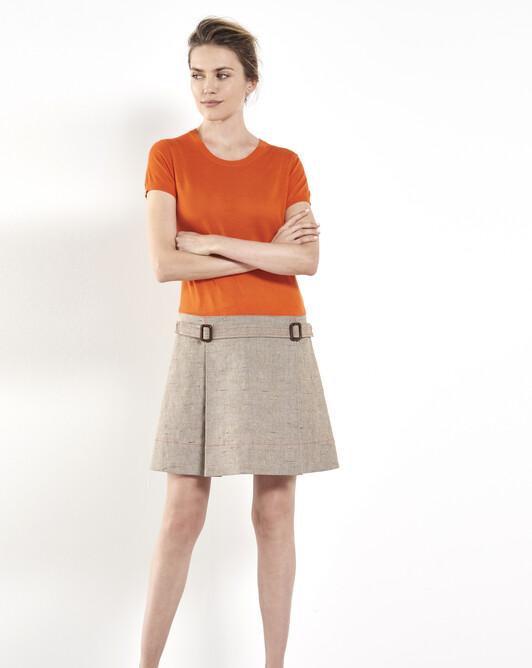 Beige slub-linen dress - Beige