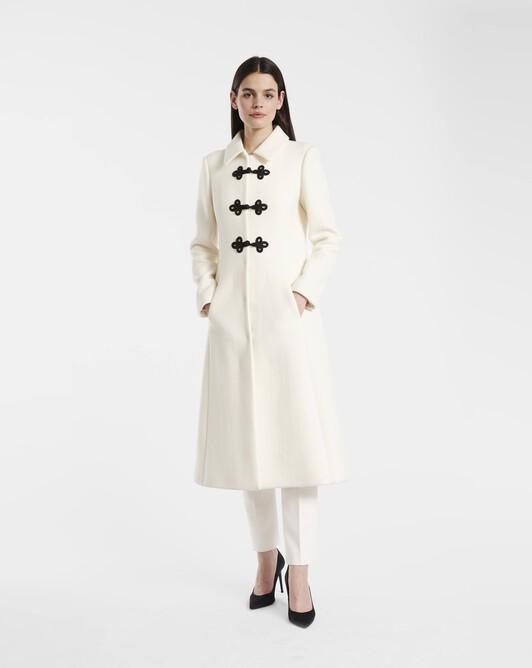 Manteau en drap de laine - naturel