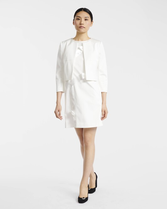 Jacket in ottoman stretch - Off white