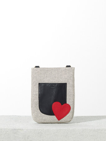 Chequered canvas bag - multicolor