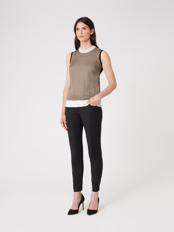 Silk and cotton tank top - Taupe