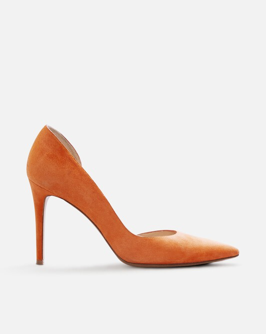 Escarpin en cuir suède - Orange