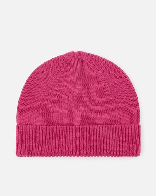 Cashmere wool beanie - Fuchsia