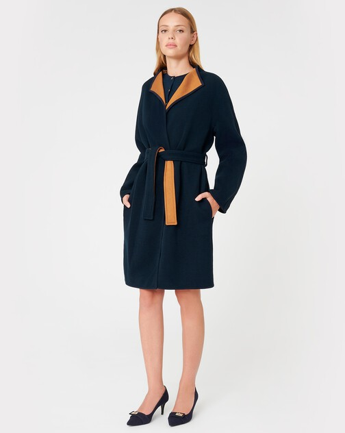 Manteau en sergé bicolore