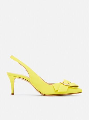 Sandales en ottoman - Citron