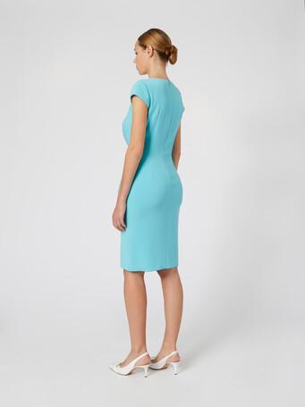 Satin-back crepe dress - Curacao